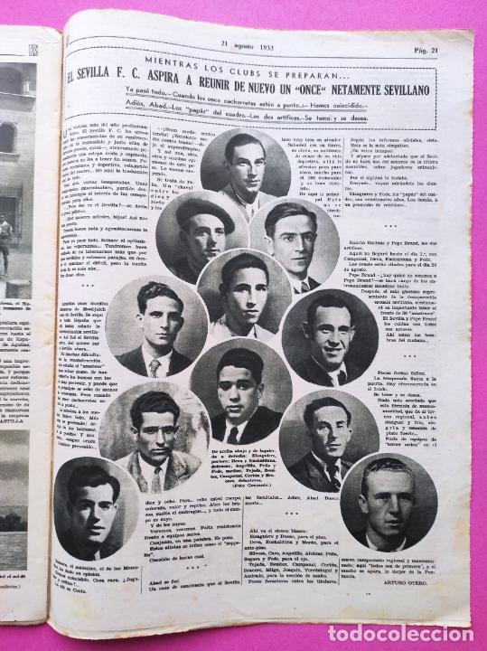 Coleccionismo deportivo: PERIODICO AS Nº 64 1933 SEVILLA FC - CADIZ MIRANDILLA - TRAINERAS CANTABRICO - ATHELTIC CLUB BILBAO - Foto 7 - 254860860