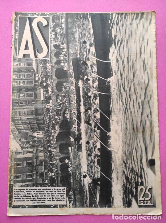 PERIODICO AS Nº 64 1933 SEVILLA FC - CADIZ MIRANDILLA - TRAINERAS CANTABRICO - ATHELTIC CLUB BILBAO (Coleccionismo Deportivo - Revistas y Periódicos - As)