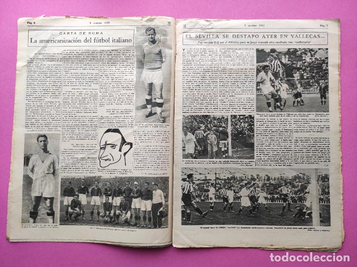 Coleccionismo deportivo: PERIODICO AS Nº 71 1933 SEVILLA FC - CAMPEONATOS REGIONALES 33 - RIMET FIFA - ATLETISMO FEMENINO - Foto 3 - 254878710