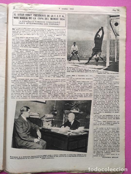 Coleccionismo deportivo: PERIODICO AS Nº 71 1933 SEVILLA FC - CAMPEONATOS REGIONALES 33 - RIMET FIFA - ATLETISMO FEMENINO - Foto 5 - 254878710