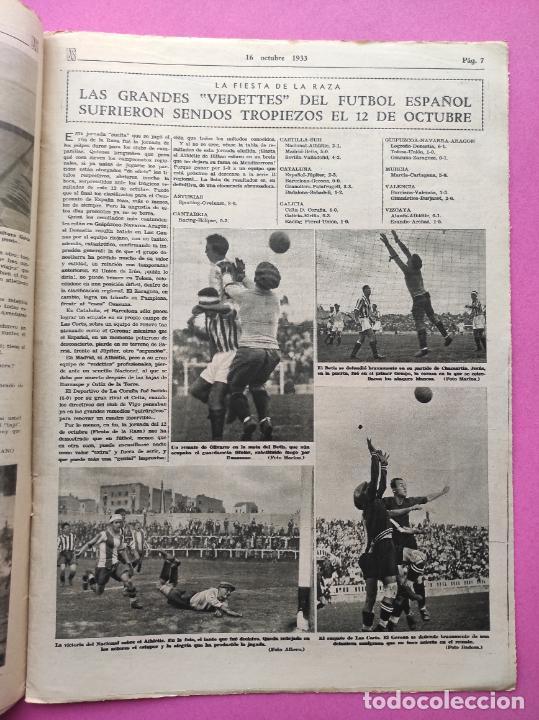 Coleccionismo deportivo: PERIODICO AS Nº 72 1933 CAMPEONATOS REGIONALES 33 MADRID-ATLETICO - SABADELL CAMPEON - Foto 3 - 254878925