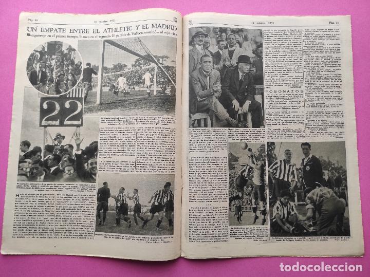 Coleccionismo deportivo: PERIODICO AS Nº 72 1933 CAMPEONATOS REGIONALES 33 MADRID-ATLETICO - SABADELL CAMPEON - Foto 4 - 254878925