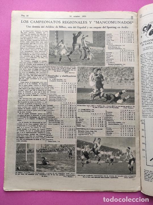 Coleccionismo deportivo: PERIODICO AS Nº 72 1933 CAMPEONATOS REGIONALES 33 MADRID-ATLETICO - SABADELL CAMPEON - Foto 5 - 254878925