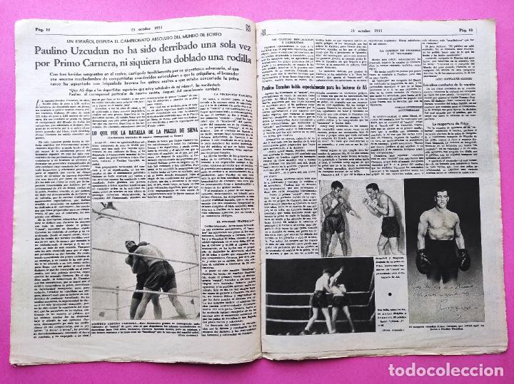 Coleccionismo deportivo: PERIODICO AS Nº 73 1933 BOXEO PAULINO UZCUDUN - CAMPEONATOS REGIONALES 33 - LEVANTE SABADELL - Foto 3 - 254879160