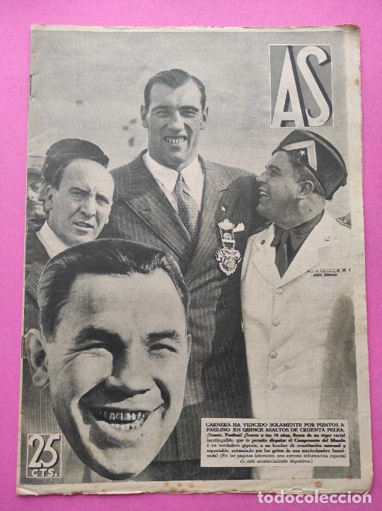 PERIODICO AS Nº 73 1933 BOXEO PAULINO UZCUDUN - CAMPEONATOS REGIONALES 33 - LEVANTE SABADELL (Coleccionismo Deportivo - Revistas y Periódicos - As)