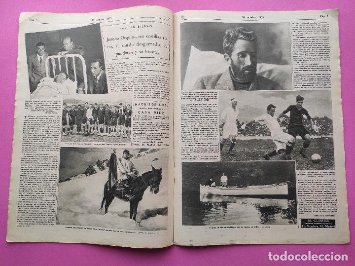 Coleccionismo deportivo: PERIODICO AS Nº 74 1933 BOXEO UZCUDUN - CAMPEONATOS REGIONALES 33 MADRID CAMPEON - BETIS - Foto 3 - 254879445