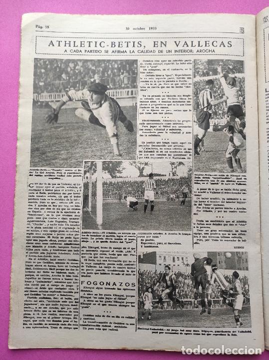 Coleccionismo deportivo: PERIODICO AS Nº 74 1933 BOXEO UZCUDUN - CAMPEONATOS REGIONALES 33 MADRID CAMPEON - BETIS - Foto 6 - 254879445