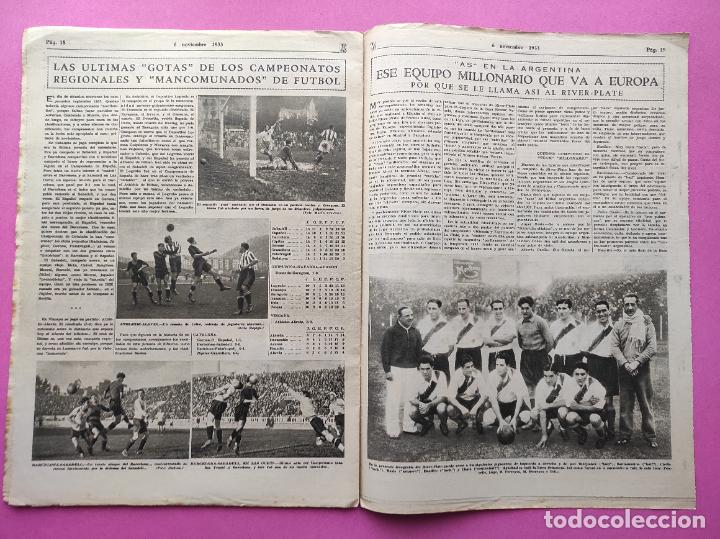 Coleccionismo deportivo: PERIODICO AS Nº 75 1933 RIVER PLATE - ARENAS GETXO - LIGA 33/34 - ANTONIO ESCURIET CICLISMO - Foto 6 - 254880550