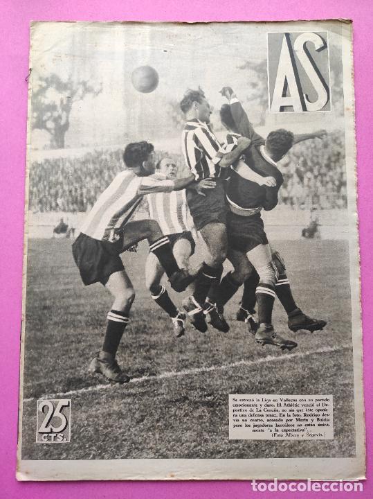 PERIODICO AS Nº 75 1933 RIVER PLATE - ARENAS GETXO - LIGA 33/34 - ANTONIO ESCURIET CICLISMO (Coleccionismo Deportivo - Revistas y Periódicos - As)