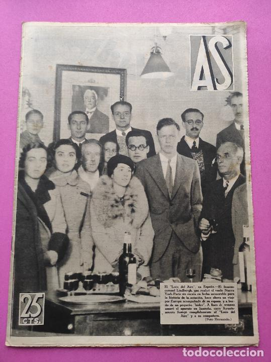 PERIODICO AS Nº 76 1933 LIGA 33/34 MADRID-VALENCIA - RACING SANTANDER - MURCIA-ATLETICO SEVILLA (Coleccionismo Deportivo - Revistas y Periódicos - As)
