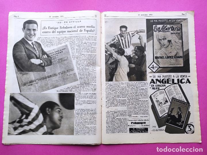 Coleccionismo deportivo: PERIODICO AS Nº 77 1933 CELTA VIGO CAMPEON GALICIA - LIGA 33/34 OVIEDO DONOSTIA - SOLADRERO BETIS - Foto 3 - 254881505