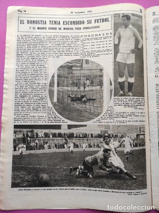 Coleccionismo deportivo: PERIODICO AS Nº 77 1933 CELTA VIGO CAMPEON GALICIA - LIGA 33/34 OVIEDO DONOSTIA - SOLADRERO BETIS - Foto 4 - 254881505