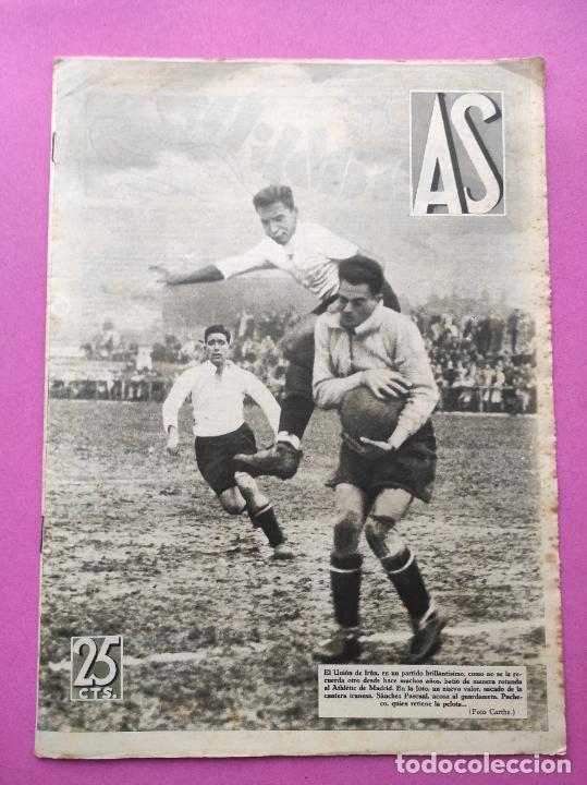 PERIODICO AS Nº 77 1933 CELTA VIGO CAMPEON GALICIA - LIGA 33/34 OVIEDO DONOSTIA - SOLADRERO BETIS (Coleccionismo Deportivo - Revistas y Periódicos - As)