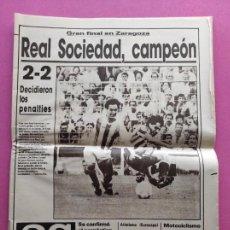 Coleccionismo deportivo: DIARIO AS REAL SOCIEDAD CAMPEON COPA DEL REY 86/87 - FINAL ATLETICO 1986/1987 ARCONADA TOSHACK. Lote 255433850