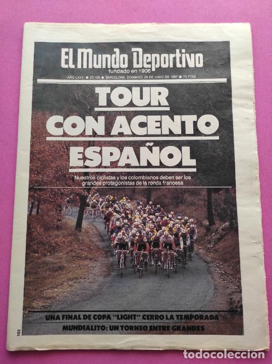Coleccionismo deportivo: DIARIO MUNDO DEPORTIVO REAL SOCIEDAD CAMPEON COPA DEL REY 86/87 - FINAL 1986/1987 ARCONADA TOSHACK - Foto 3 - 255434085
