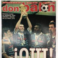 Coleccionismo deportivo: REVISTA DON BALÓN Nº1187 FRANCIA CAMPEONA DEL MUNDO MUNDIAL FRANCIA 98. Lote 255458560