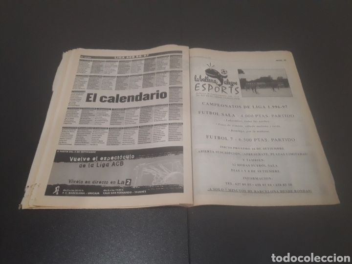 Coleccionismo deportivo: SPORT N° 6051. 5 DE SEPTIEMBRE 1996. - Foto 25 - 255943035