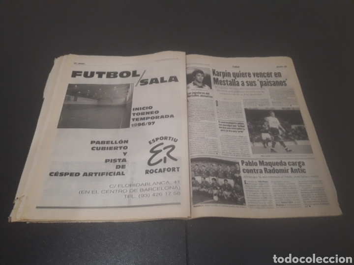 Coleccionismo deportivo: SPORT N° 6051. 5 DE SEPTIEMBRE 1996. - Foto 27 - 255943035