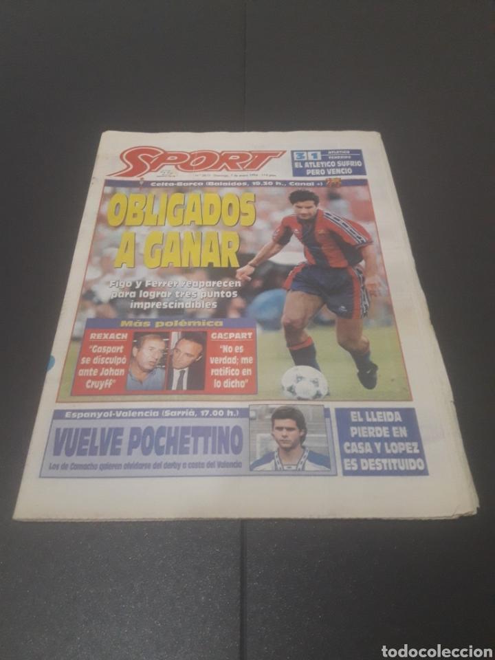 SPORT N° 5810. 7 DE ENERO 1996. (Coleccionismo Deportivo - Revistas y Periódicos - Sport)