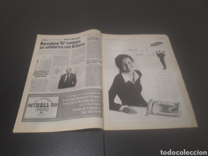 Coleccionismo deportivo: SPORT N° 6012. 28 DE JULIO 1996. - Foto 8 - 255950325