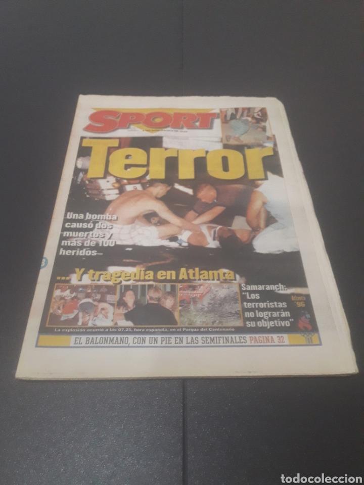 SPORT N° 6012. 28 DE JULIO 1996. (Coleccionismo Deportivo - Revistas y Periódicos - Sport)
