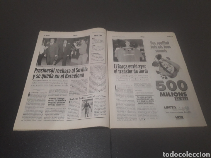 Coleccionismo deportivo: SPORT N° 6025. 10 DE AGOSTO 1996. - Foto 7 - 255954310