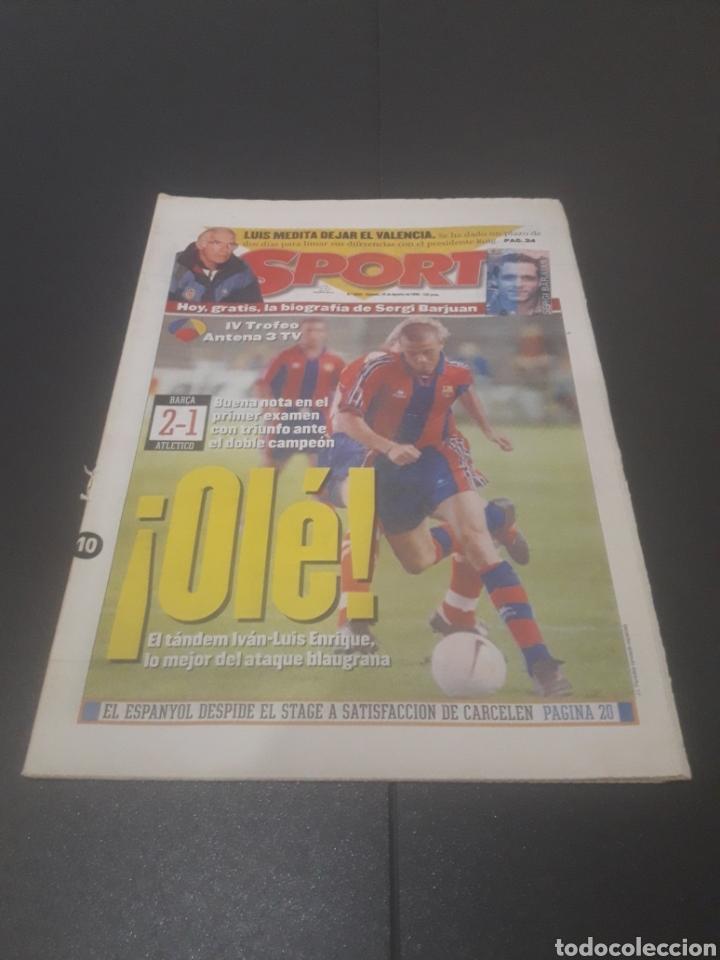 SPORT N° 6025. 10 DE AGOSTO 1996. (Coleccionismo Deportivo - Revistas y Periódicos - Sport)