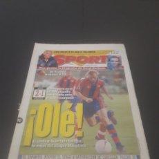 Coleccionismo deportivo: SPORT N° 6025. 10 DE AGOSTO 1996.. Lote 255954310
