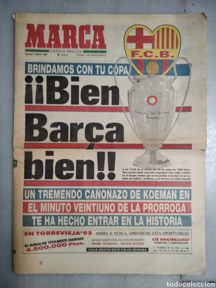 PERIÓDICO MARCA. (Coleccionismo Deportivo - Revistas y Periódicos - Marca)