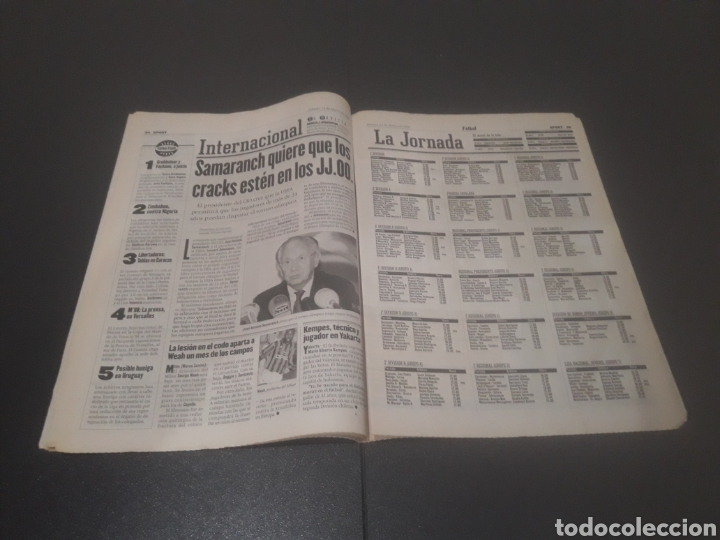 Coleccionismo deportivo: SPORT N° 5886. 23 DE MARZO 1996. - Foto 18 - 255959070