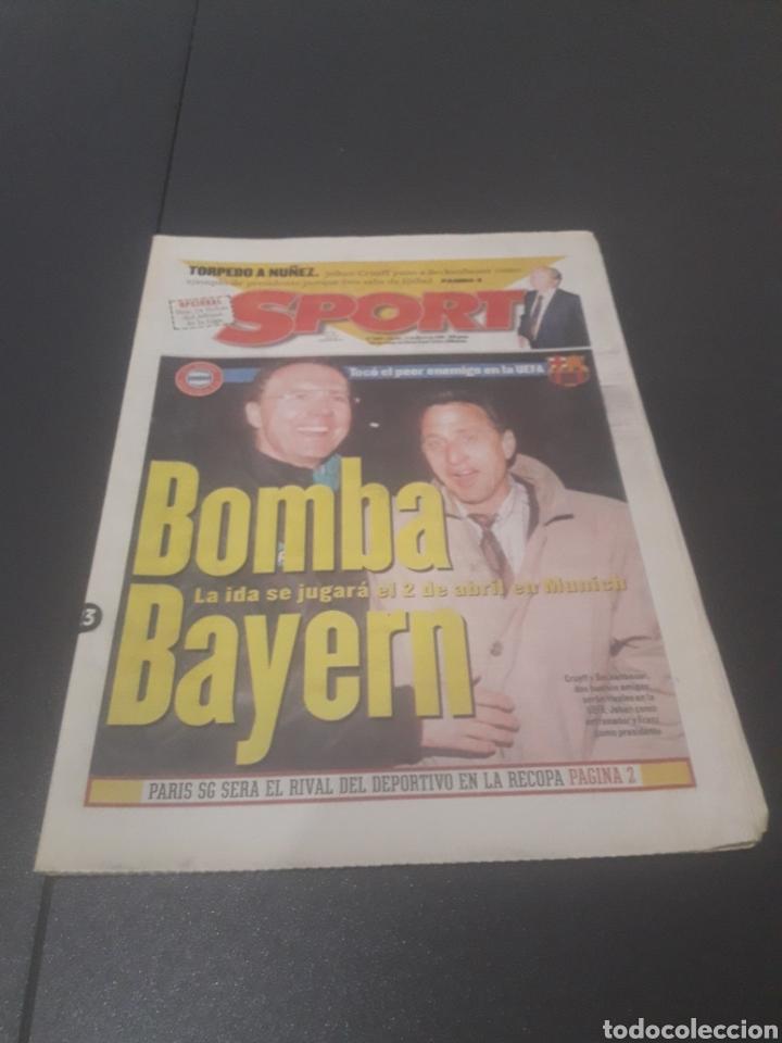SPORT N° 5886. 23 DE MARZO 1996. (Coleccionismo Deportivo - Revistas y Periódicos - Sport)