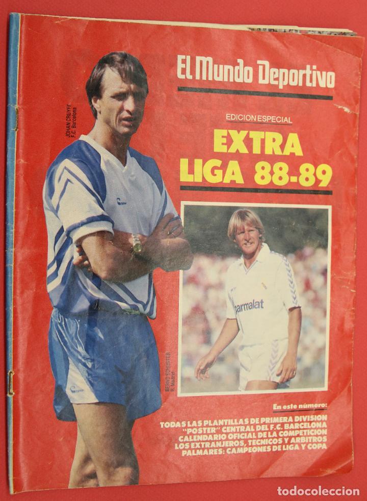 EL MUNDO DEPORTIVO EXTRA LIGA 88-89 POSTER CENTRAL DEL F.C. BARCELONA (Coleccionismo Deportivo - Revistas y Periódicos - Mundo Deportivo)