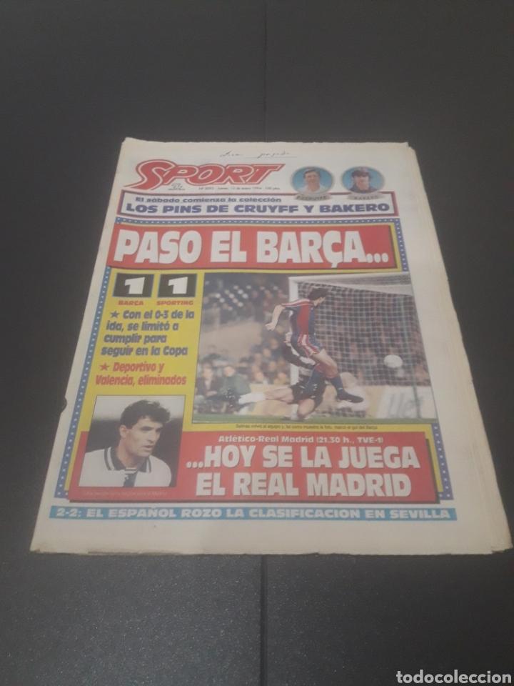 SPORT N° 5093. 13 DE ENERO 1994. (Coleccionismo Deportivo - Revistas y Periódicos - Sport)