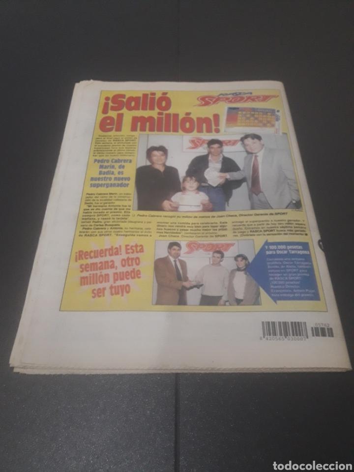 Coleccionismo deportivo: SPORT N° 5762. 18 DE NOVIEMBRE 1995. - Foto 36 - 255998290