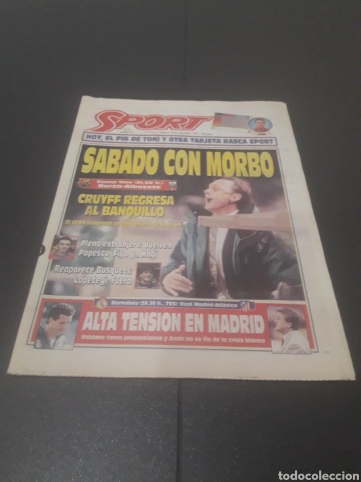SPORT N° 5762. 18 DE NOVIEMBRE 1995. (Coleccionismo Deportivo - Revistas y Periódicos - Sport)