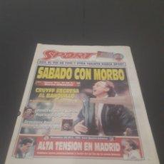 Coleccionismo deportivo: SPORT N° 5762. 18 DE NOVIEMBRE 1995.. Lote 255998290
