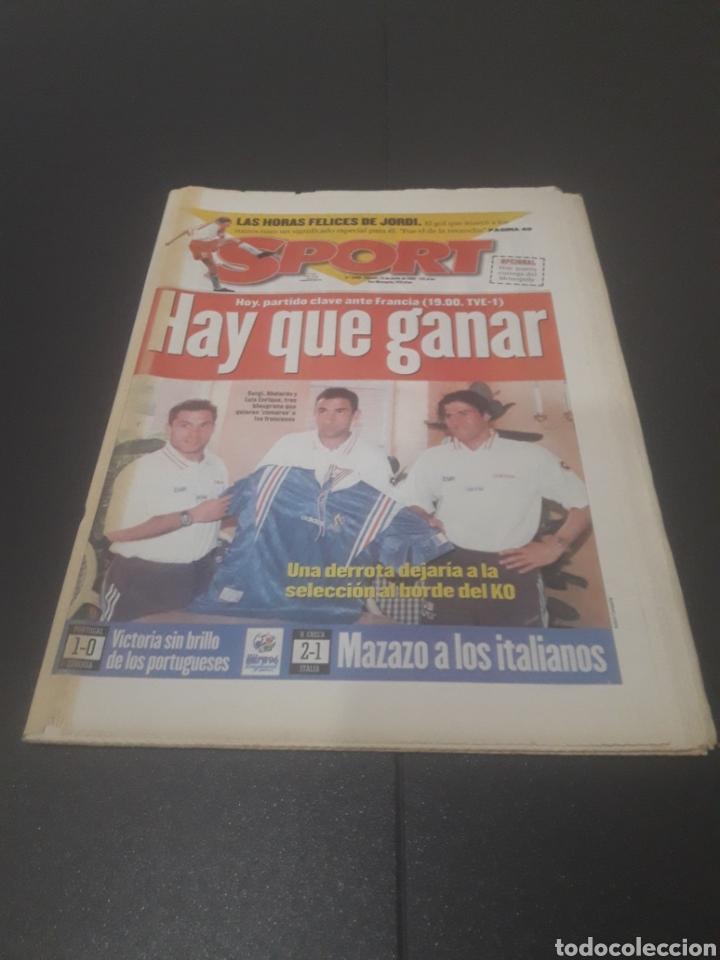 SPORT N° 5969. 15 DE JUNIO 1996. (Coleccionismo Deportivo - Revistas y Periódicos - Sport)