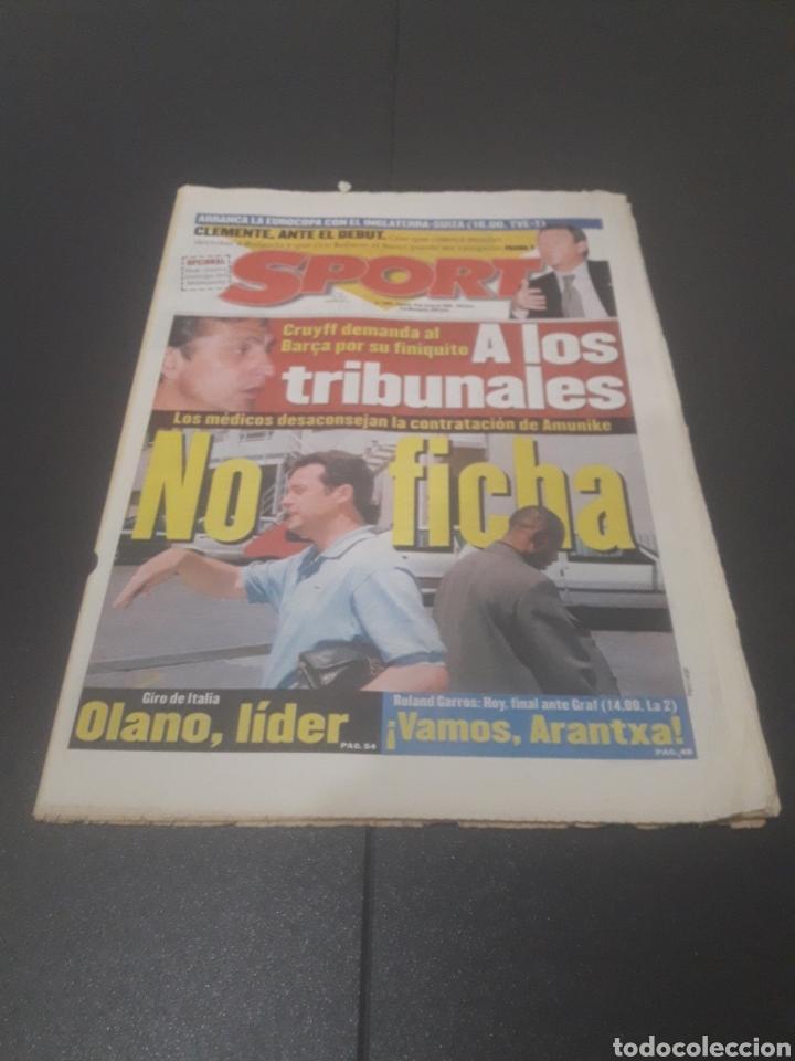 SPORT N° 5962. 8 DE JUNIO 1996. (Coleccionismo Deportivo - Revistas y Periódicos - Sport)