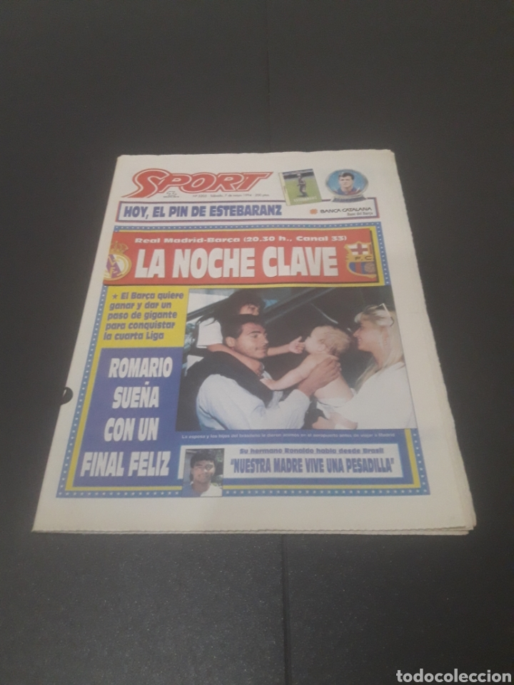 SPORT N° 5205. 7 DE MAYO 1994. (Coleccionismo Deportivo - Revistas y Periódicos - Sport)