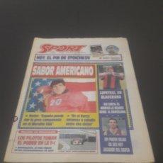 Coleccionismo deportivo: SPORT N° 5226. 28 DE MAYO 1994.. Lote 256010445