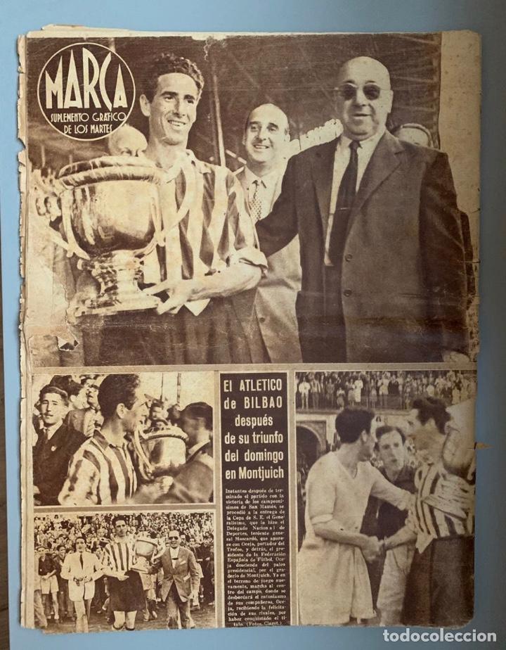 Coleccionismo deportivo: Revista Marca Athletic Club Campeón Copa 1944 - Foto 2 - 256075790