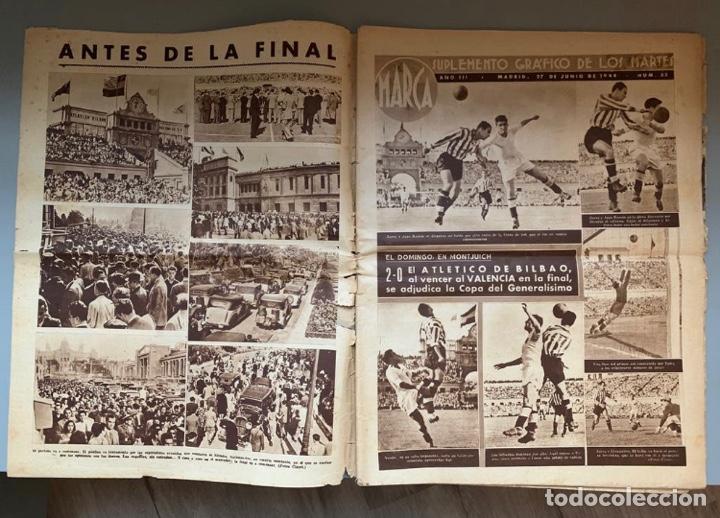 Coleccionismo deportivo: Revista Marca Athletic Club Campeón Copa 1944 - Foto 3 - 256075790