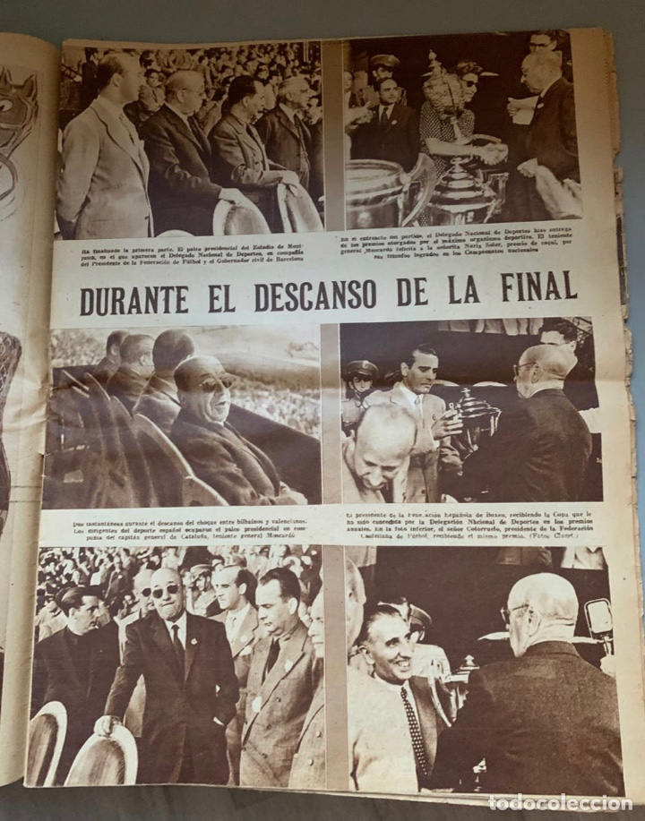Coleccionismo deportivo: Revista Marca Athletic Club Campeón Copa 1944 - Foto 8 - 256075790