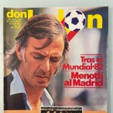 Coleccionismo deportivo: DON BALÓN 338 (ABRIL 1982) MENOTTI. BRASIL. ALEMANIA. ESPAÑA. LAMO CASTILLO. TOTTENHAM. MANUEL MELER. Lote 257314410