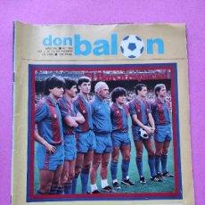Coleccionismo deportivo: REVISTA DON BALON Nº 356 POSTER BARÇA 82/83 PRESENTACION FC BARCELONA 1982/1983 MARADONA. Lote 257379460