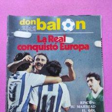 Coleccionismo deportivo: REVISTA DON BALON Nº 368 1982 REAL SOCIEDAD COPA EUROPA 82/83 CELTIC GLASGOW ZAMORA. Lote 257379925