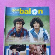 Coleccionismo deportivo: REVISTA DON BALON Nº 371 372 POSTER CROMOS REAL MADRID 82/83 1982/1983 - MARADONA SABADELL ESPAÑA. Lote 257380440