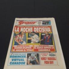 Coleccionismo deportivo: SPORT N° 4491. 16 DE MAYO 1992.. Lote 257396165