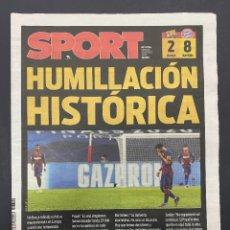 Coleccionismo deportivo: PERIODICO SPORT NUEVO ELIMINACION BARCELONA 2 - 8 BAYERN MUNICH TEMPORADA 2019 2020 19 20. Lote 257396860