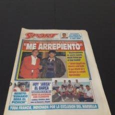 Coleccionismo deportivo: SPORT N° 4968. 8 DE SEPTIEMBRE 1993.. Lote 257402925